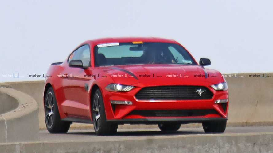 New Ford Mustang Performance Model Spied Exercising In Dearborn