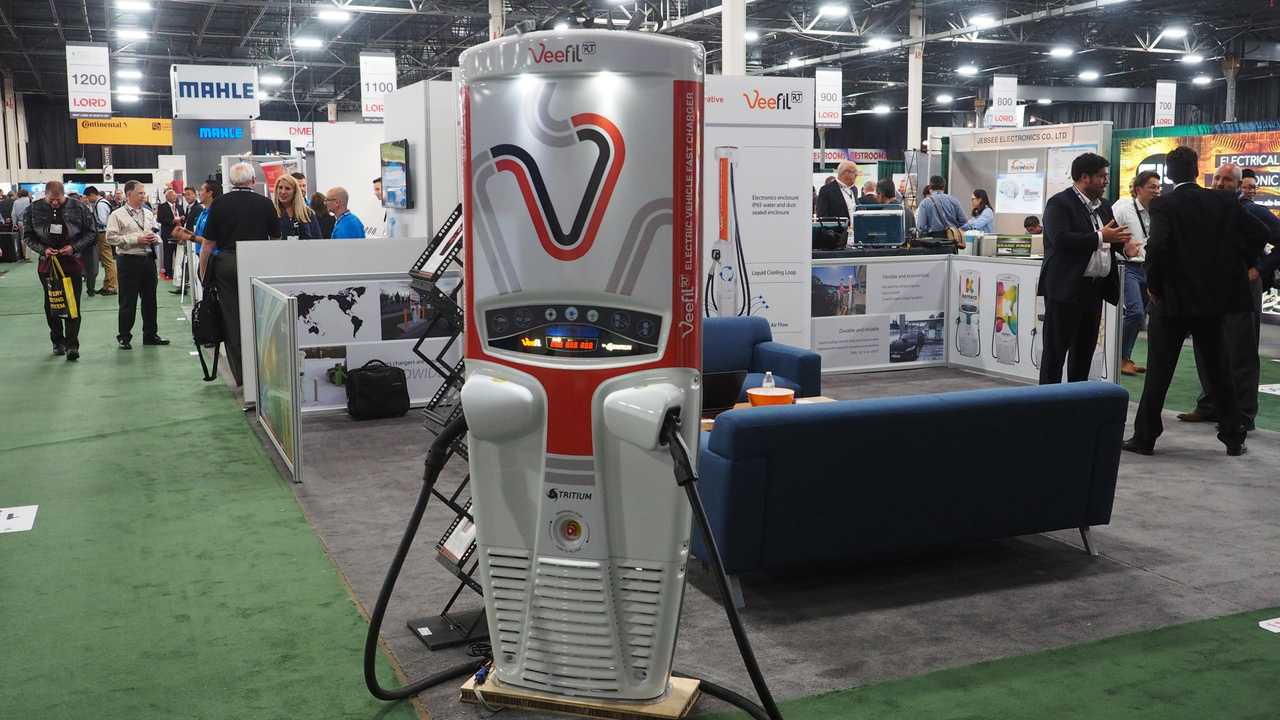 Tritium 50-kW DC Fast Charger at The Battery Show 2017