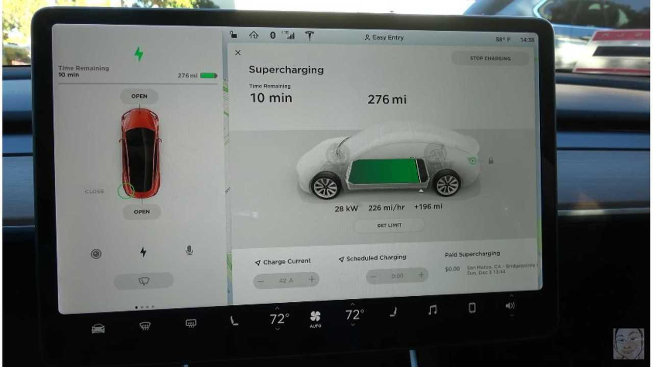 Tesla Model 3 on SuperCharger (source: SuperGadgetGuy)