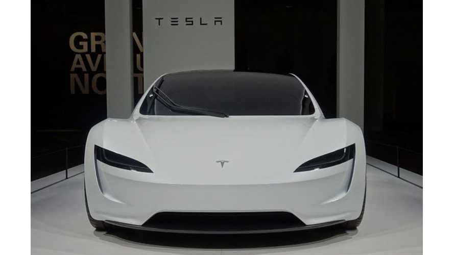 UPDATE: Tesla Roadster Makes European Debut At Grand Basel