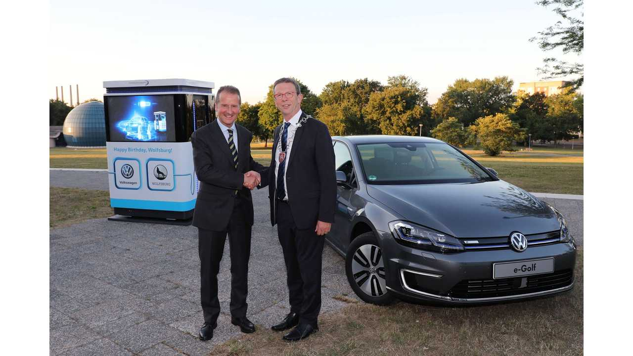 Wolfsburg Turns 80, Gets 12 Mobile Chargers From Volkswagen