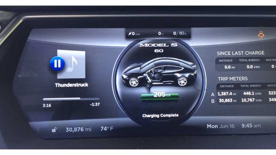 Tesla Model S Gains Range After Heavy Use And Daily Range Charge - Video