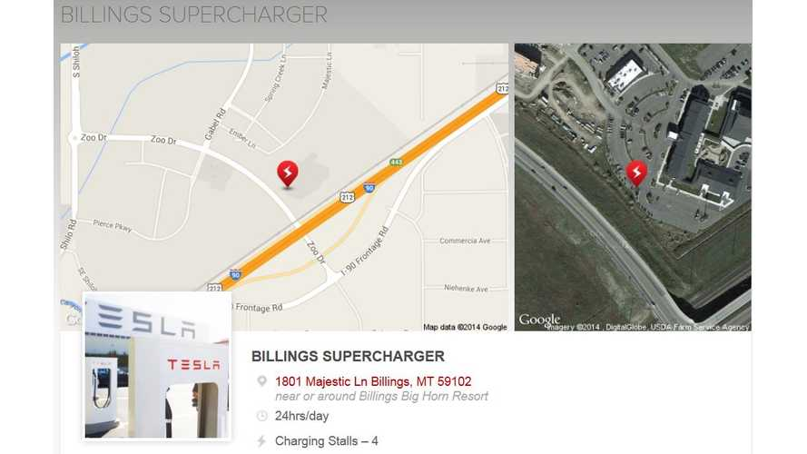 Montana Gets Its First Tesla Supercharger