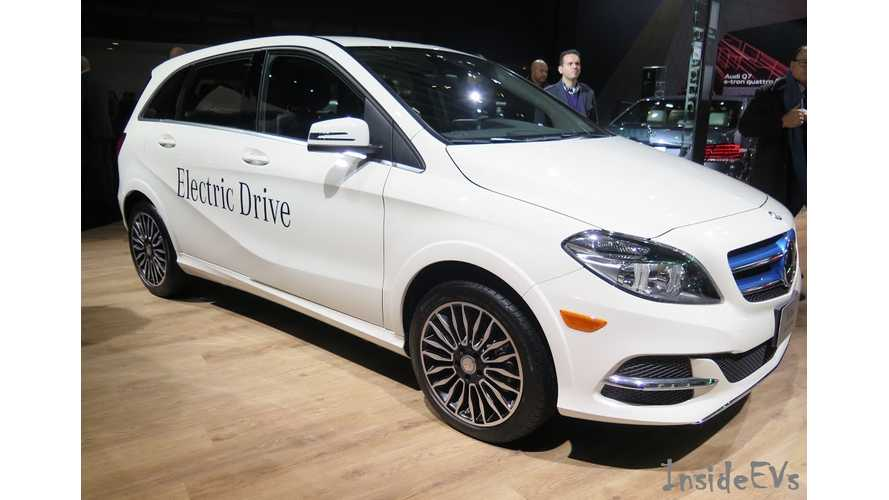 2015 Mercedes-Benz B-Class Electric Drive On Display At 2015 NAIAS