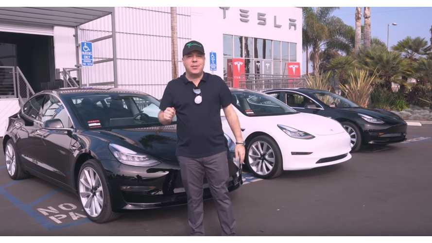 TSportline Takes Delivery Of Not One, Not Two, But Three Model 3s - Video