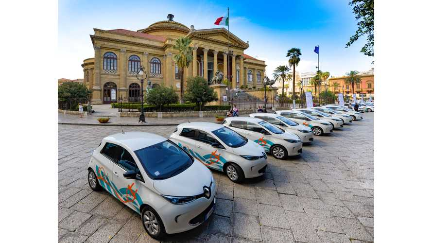Palermo Adds Renault ZOEs To Car Share Program