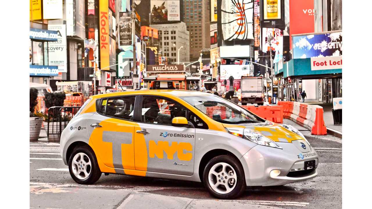 Nissan LEAF Taxi in the New York City