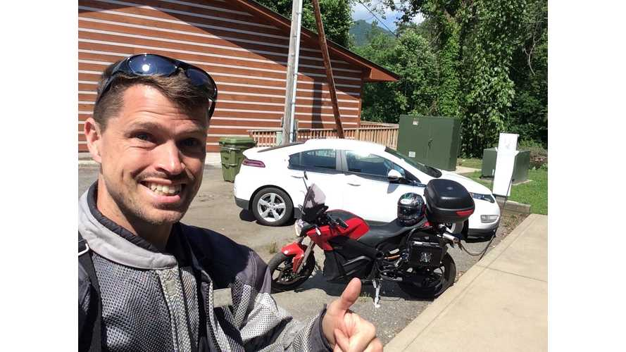 "Three Country Tour on an Electric Motorcycle - ""Rest"" Day"
