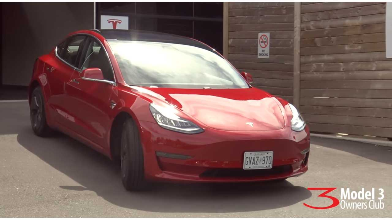 Watch As First Tesla Model 3 Is Delivered In Canada