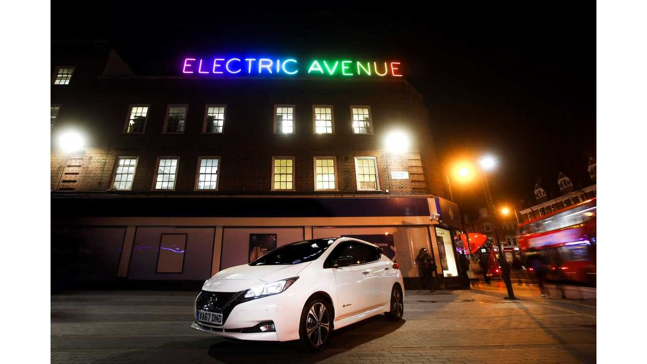 New Nissan LEAF Charges up Electric Avenue