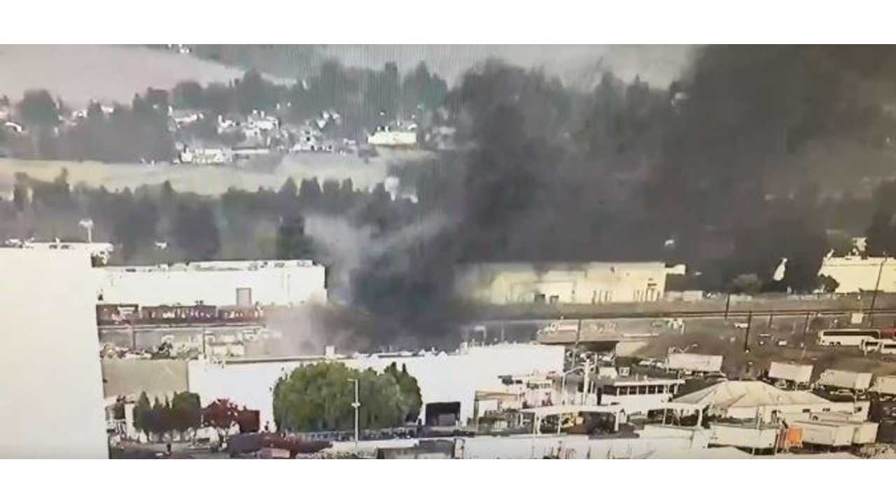 Fire At Tesla Factory: Now Extinguished