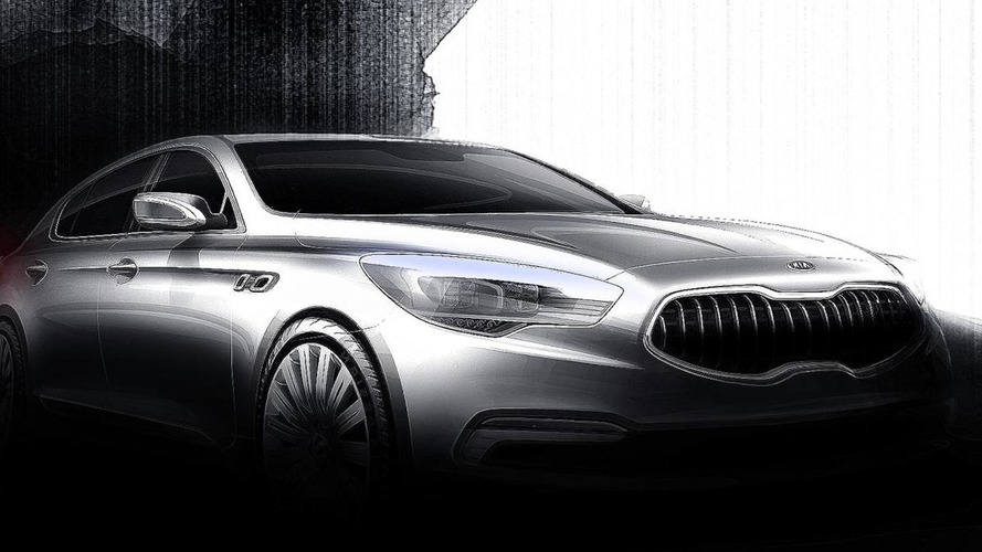 Kia K9 flagship sedan sketches released