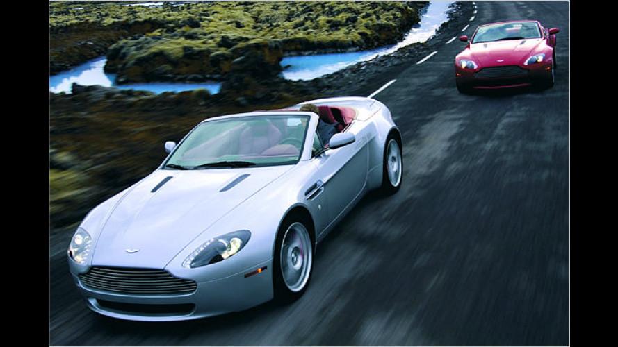 Frischluft-Dusche für 007: Aston Martin V8 Vantage Roadster