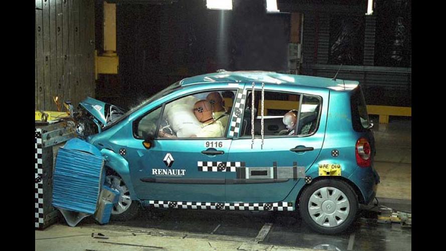 Renault Modus: Erster Kleinwagen mit Fünf-Sterne-Crashtest