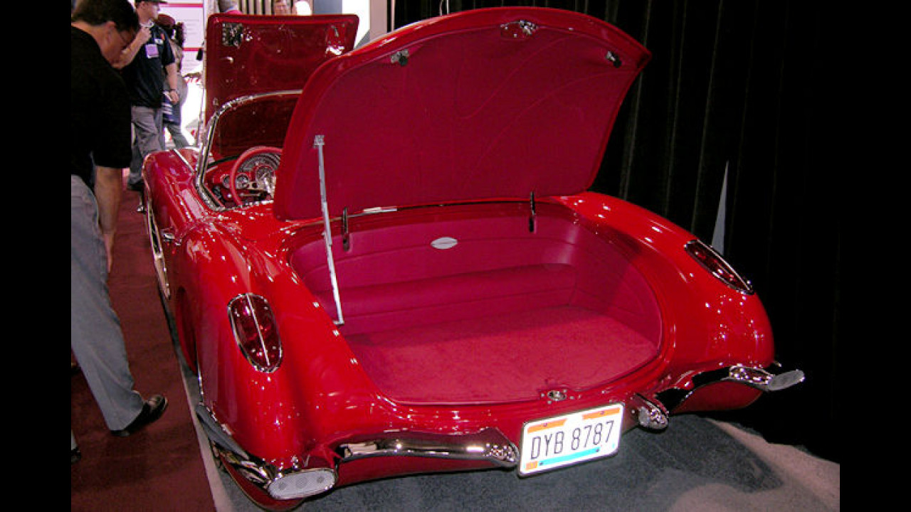 Ob der Kofferraum der 1960er Corvette jemals Gepäck zu sehen bekommt?