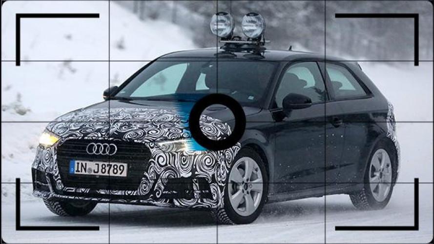 Audi A3 restyling, foto spia della tre porte