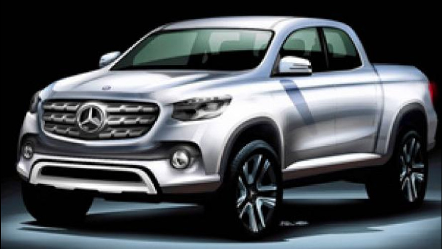 Mercedes pick up, online la prima foto
