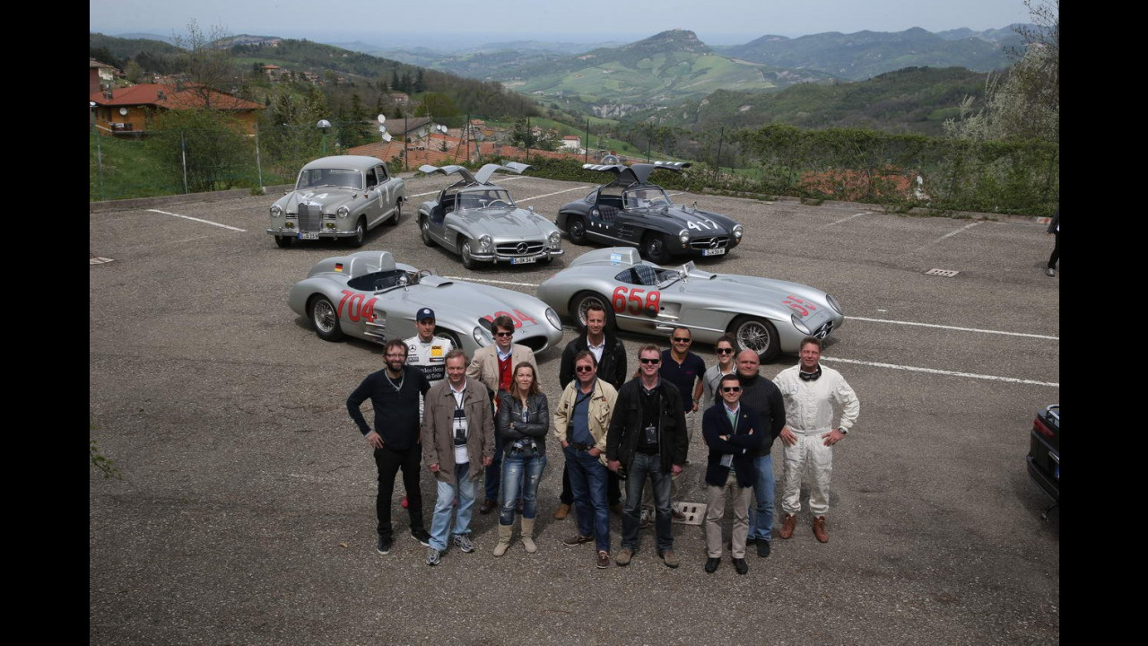 Mille Miglia 1955, la celebrazione Mercedes