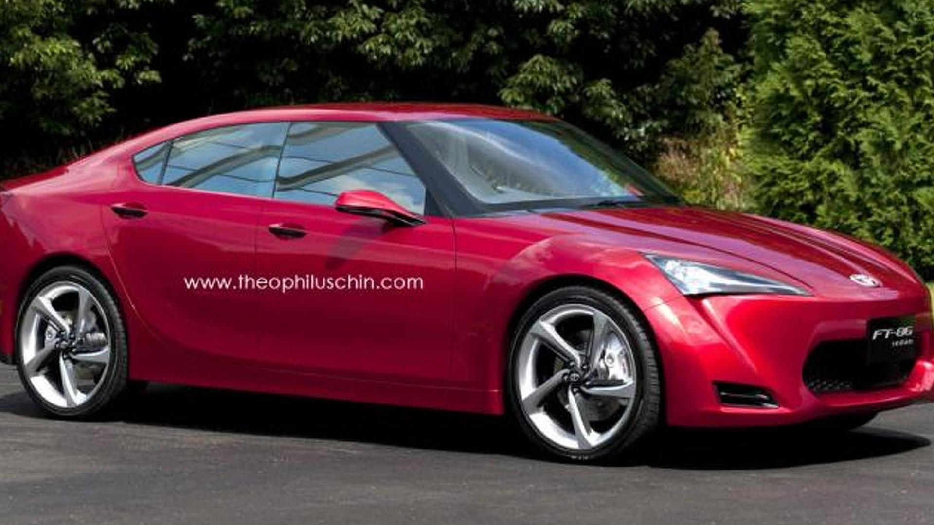 Scion FR-S sedan coming in 4 with a turbocharged engine - report