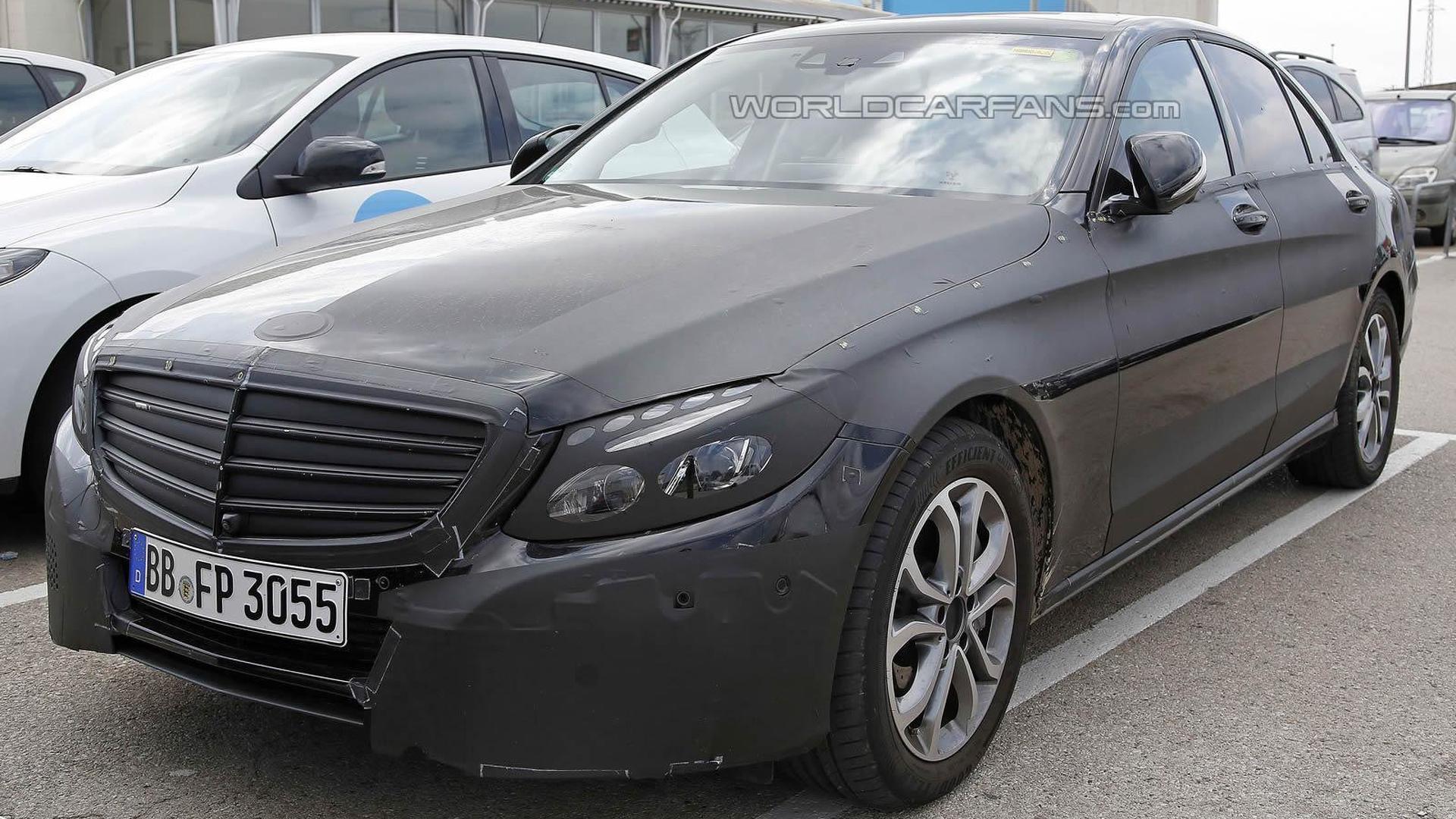 Mercedes Benz C Class Plug In Hybrid First Spy Shots Emerge
