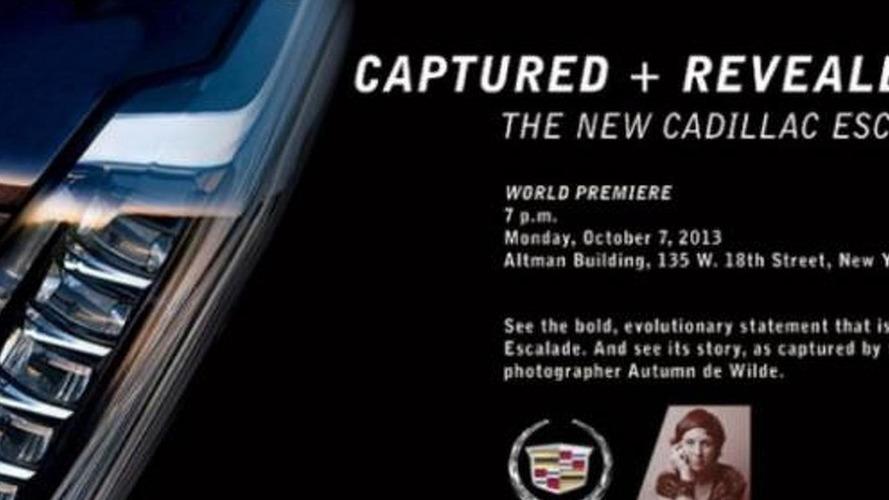 2015 Cadillac Escalade teased, debuts October 7th