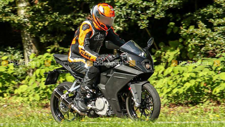 Spotted: KTM Spied Testing A New RC 390 Baby Superbike