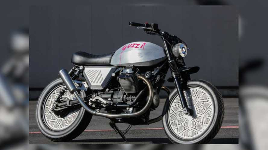 Raw Aluminum Moto Guzzi V7 Showcased At London Design Festival