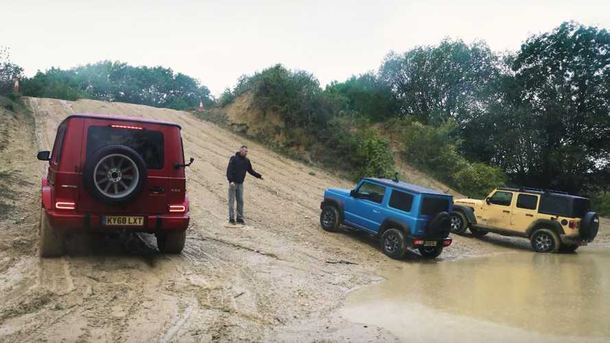 Watch Wrangler Drag Race AMG G63, Jimny Up A Hill