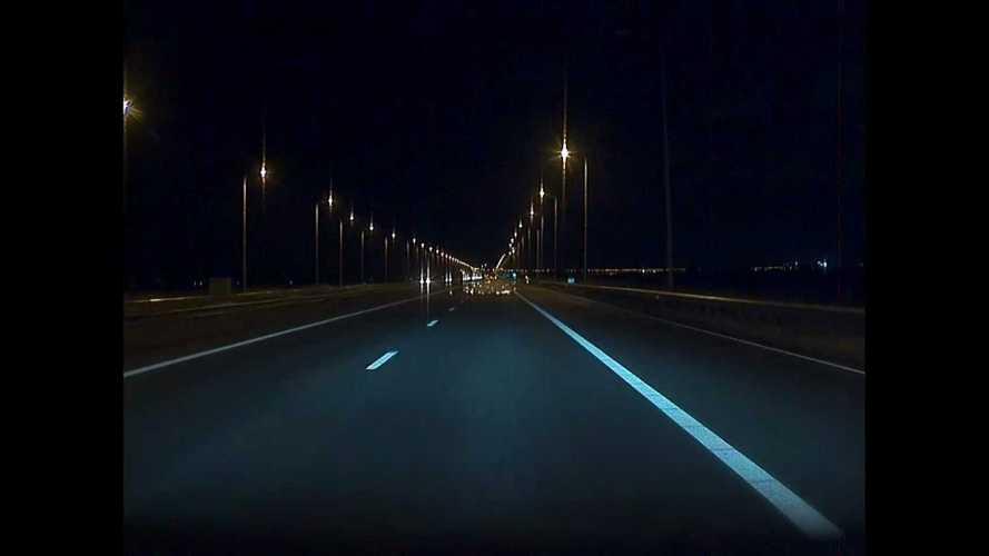Watch Suzuki Hayabusa Self-Destruct At Speed: From Tesla Model 3 POV