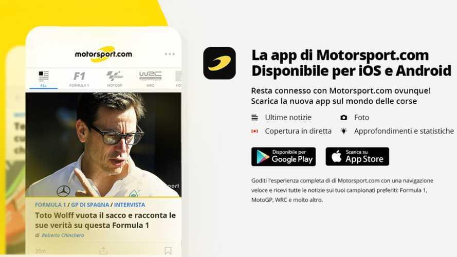 Motorsport.com, nasce l'App per seguire le corse sullo smartphone