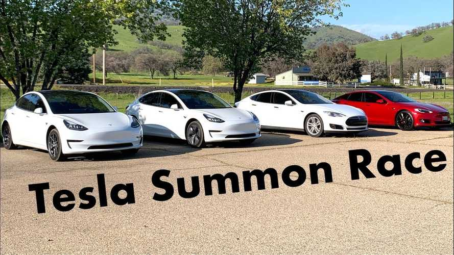 Tesla Smart Summon Race? Check Out This Very Unique Competition