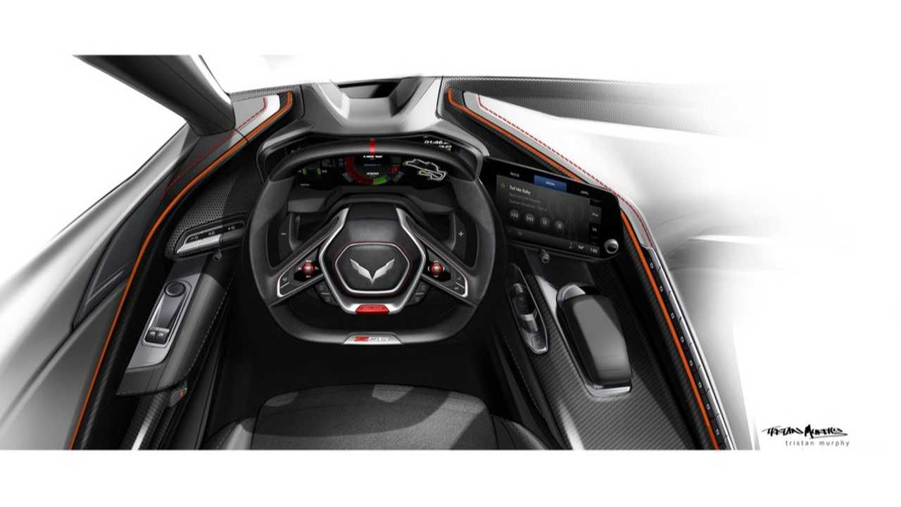 Chevy Corvette C8 Z06 interior sketch