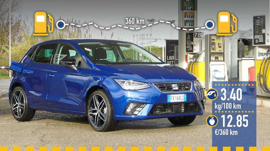 Seat Ibiza 1.0 TGI metano, la prova dei consumi reali