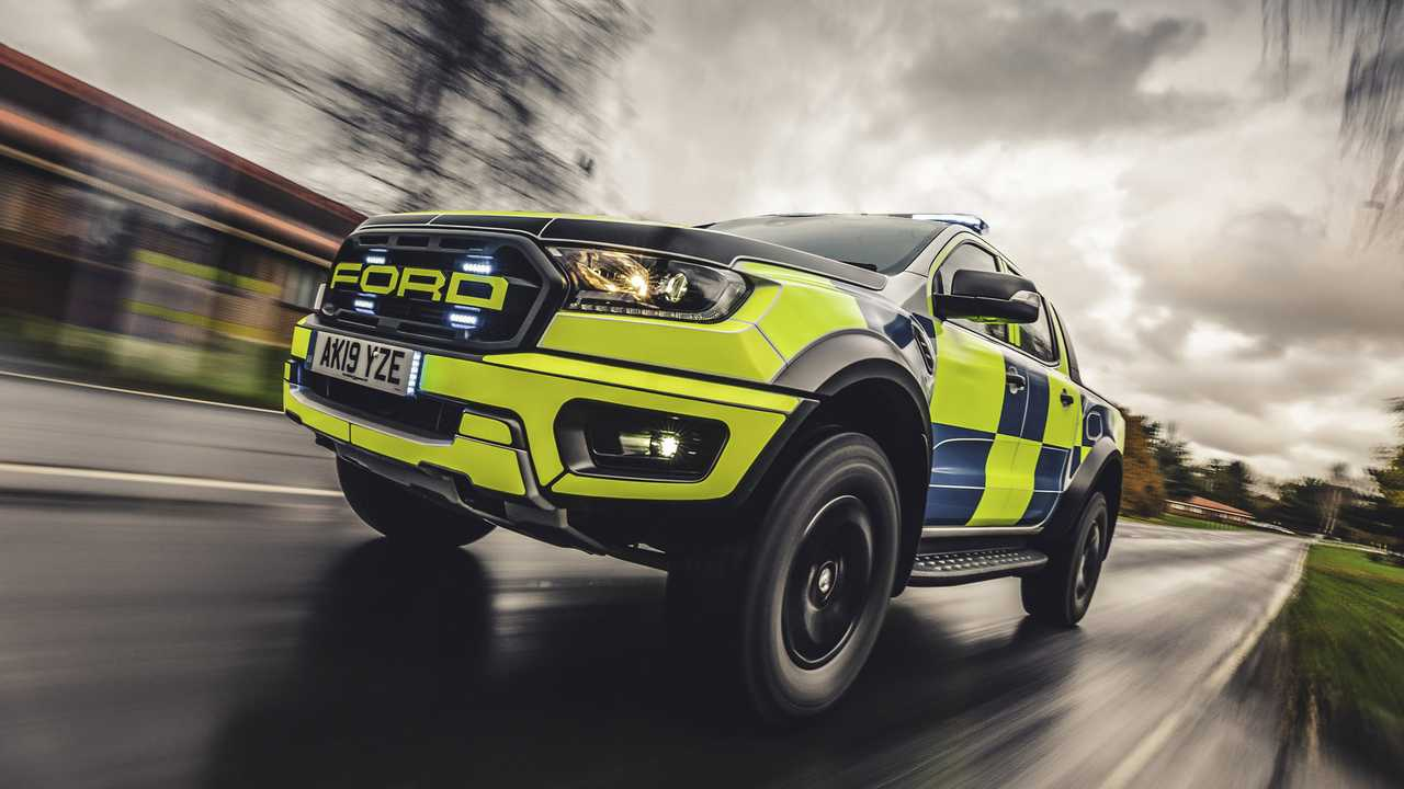 Ford Ranger Raptor Polizia UK