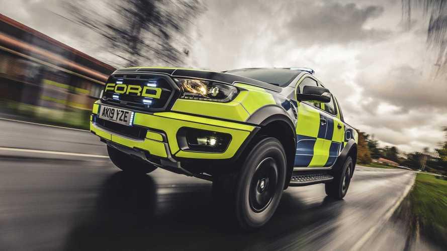 Ford Ranger Raptor, la polizia britannica sceglie di esagerare