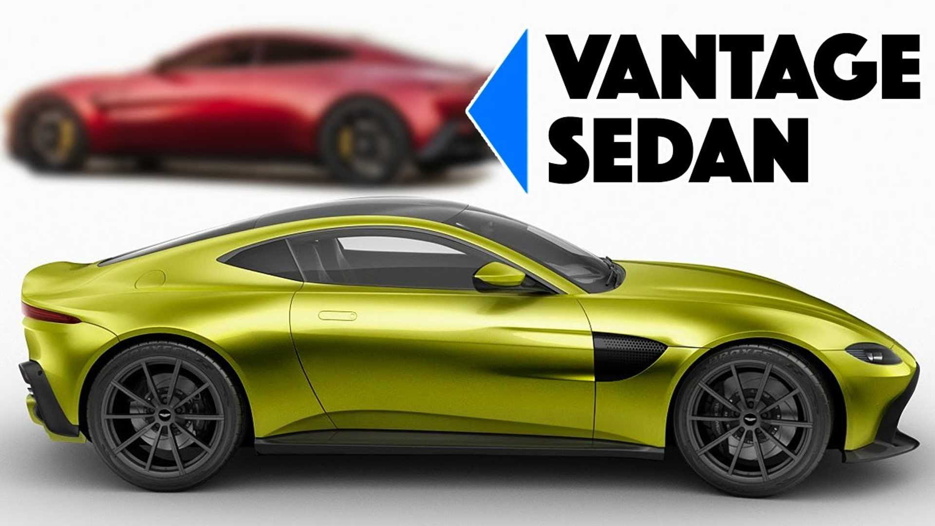 Aston Martin Vantage Sedan Rendering Would Make A Great Rapide