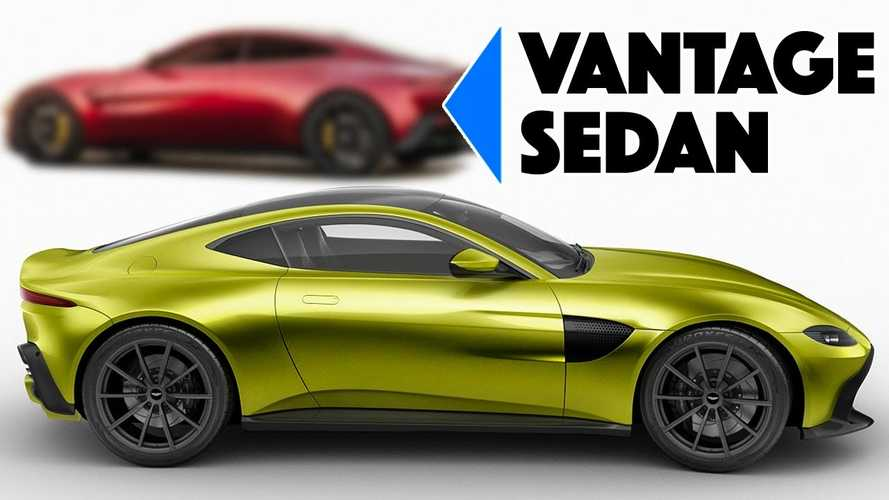 Aston Martin Vantage saloon rendering would make a great Rapide