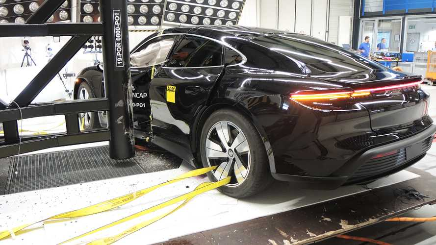 Porsche Taycan Crash Test Euro NCAP 2019
