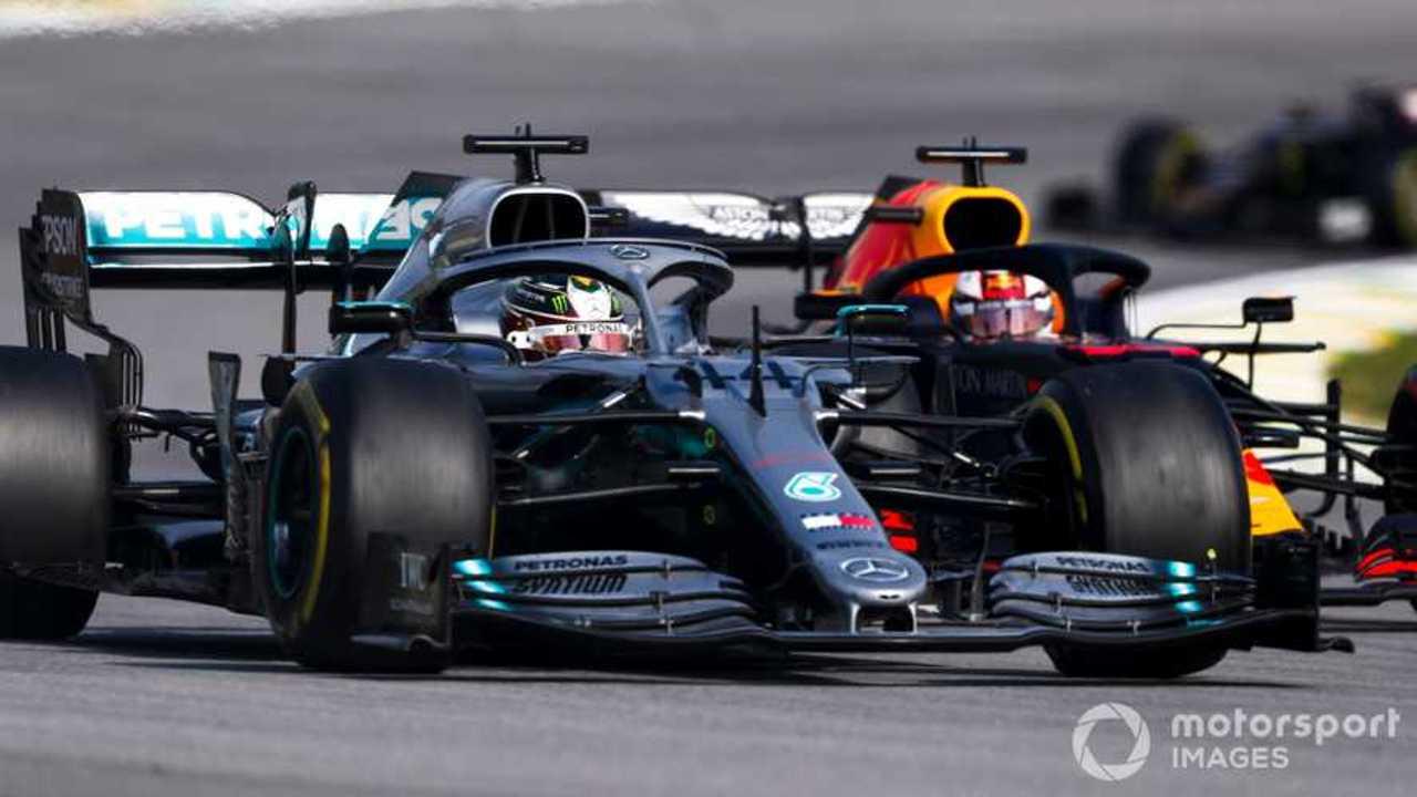 Lewis Hamilton leads Max Verstappen at Brazilian GP 2019