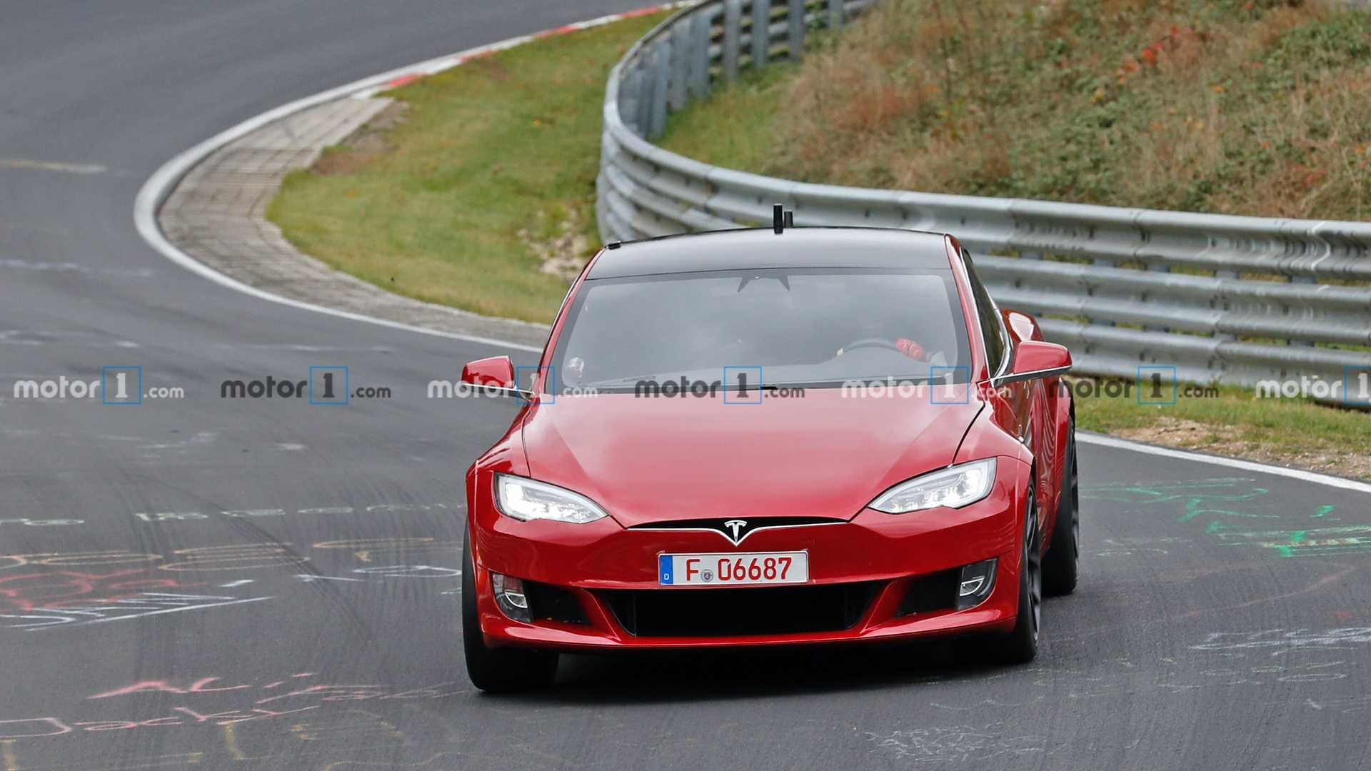 Tesla Model S Spied At Nurburgring