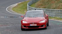 Tesla Model S Spied At Nurburgring