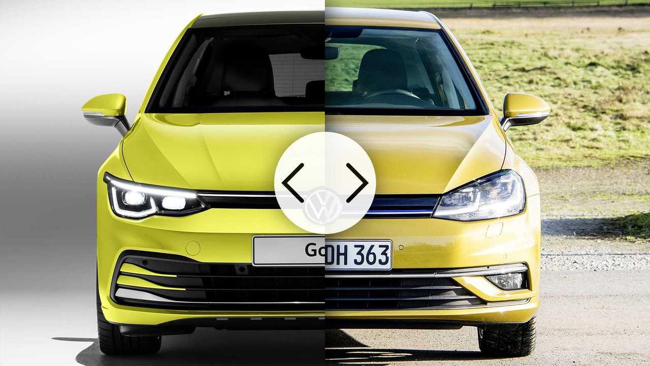 Volkswagen Golf 8 vs Golf 7