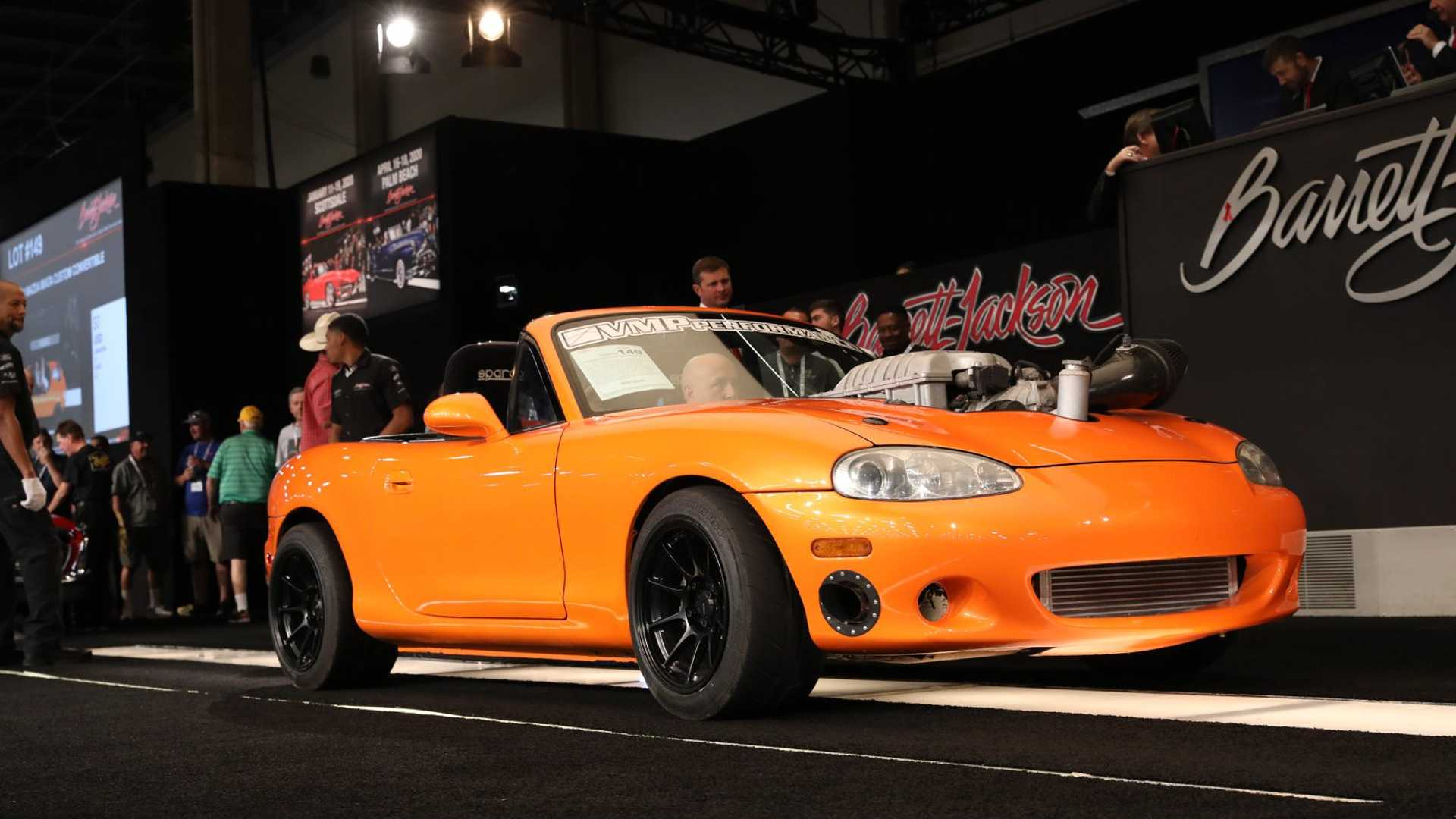 "[""Sold: 1999 Mazda Miata 'Hell Kitty' Headed To Barrett-Jackson""]"