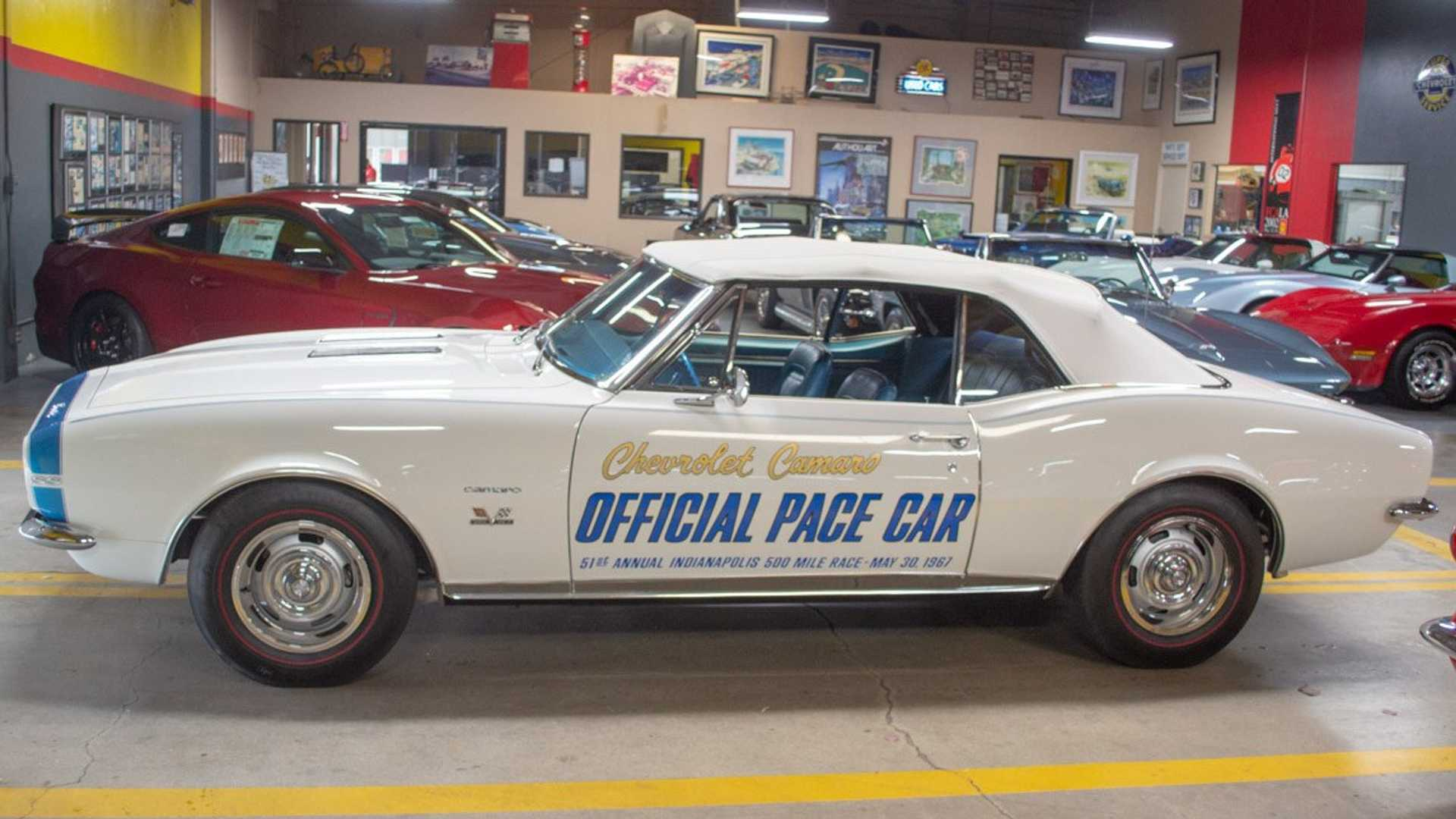 "[""Buy This 1967 Chevrolet Camaro Pace Car Signed By Indy-Winner AJ Foyt""]"
