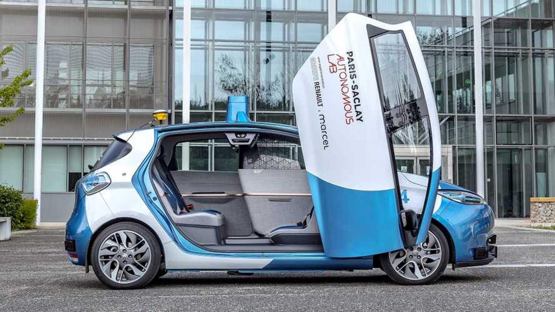 Renault testet Elektroauto Zoe als Robo-Taxi – mit Scherentüren
