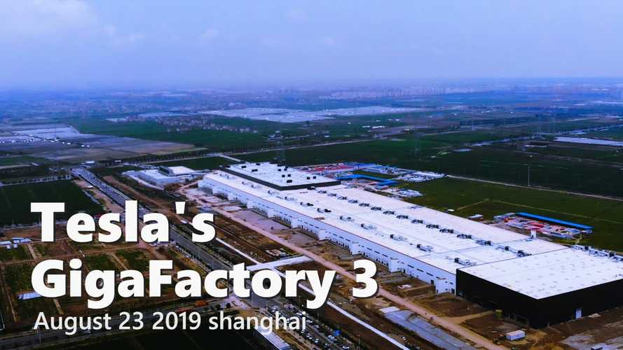 Tesla Gigafactory 3 Construction Progress August 23, 2019: Video