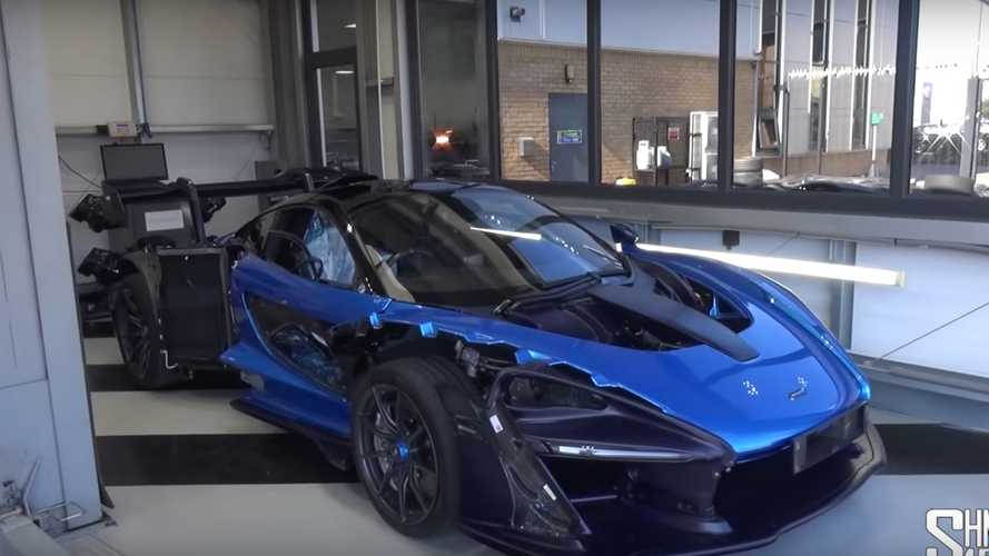 Here's what happens when you fix a damaged McLaren Senna