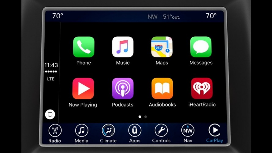 FCA apresenta central Uconnect com Android Auto e Apple CarPlay