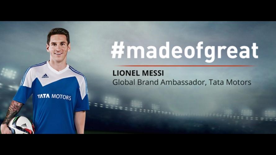 Messi é apresentado como novo embaixador mundial da Tata Motors