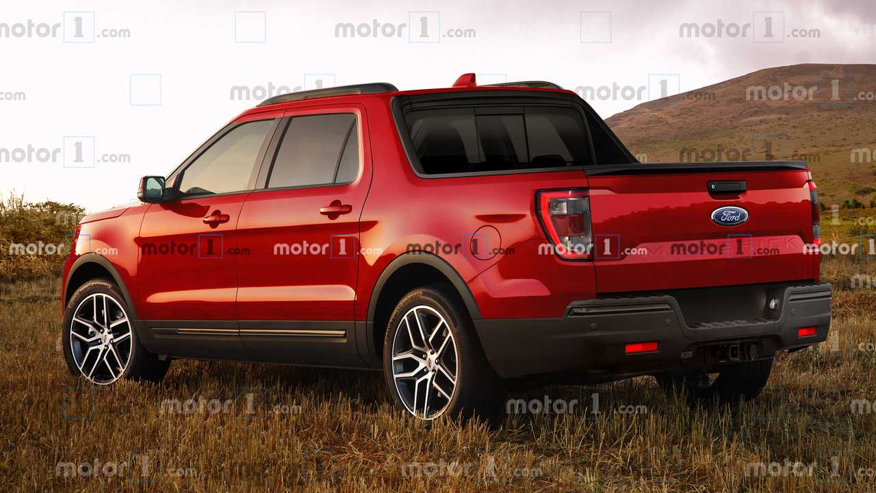 Ford Maverick Rendering -  Posteriore 3/4